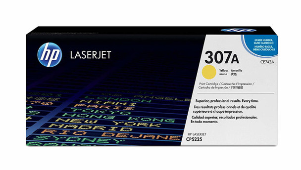 HP 307A Yellow LaserJet Toner Cartridge CE742A