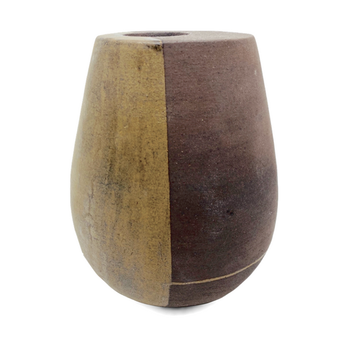 Double-Walled Vessel with Green Line and Band / Cynthia Rae Levine