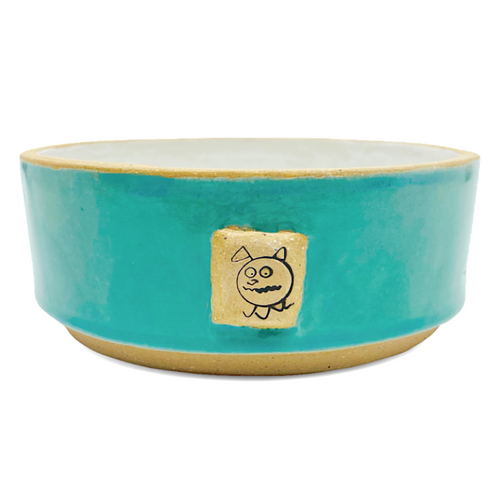 Beastware Footed Pet Bowl / Turquoise