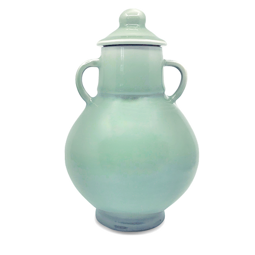 Celadon Porcelain Jar / Santa Fe Clay