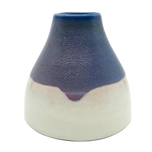 Bud Vase / Blue Drip