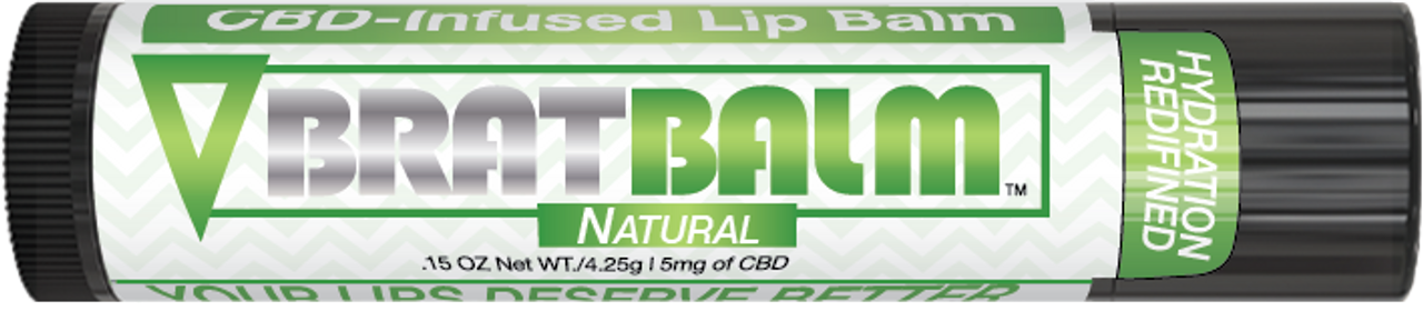 BratBalm : Natural Flavor  : CBD Infused Lip Balm