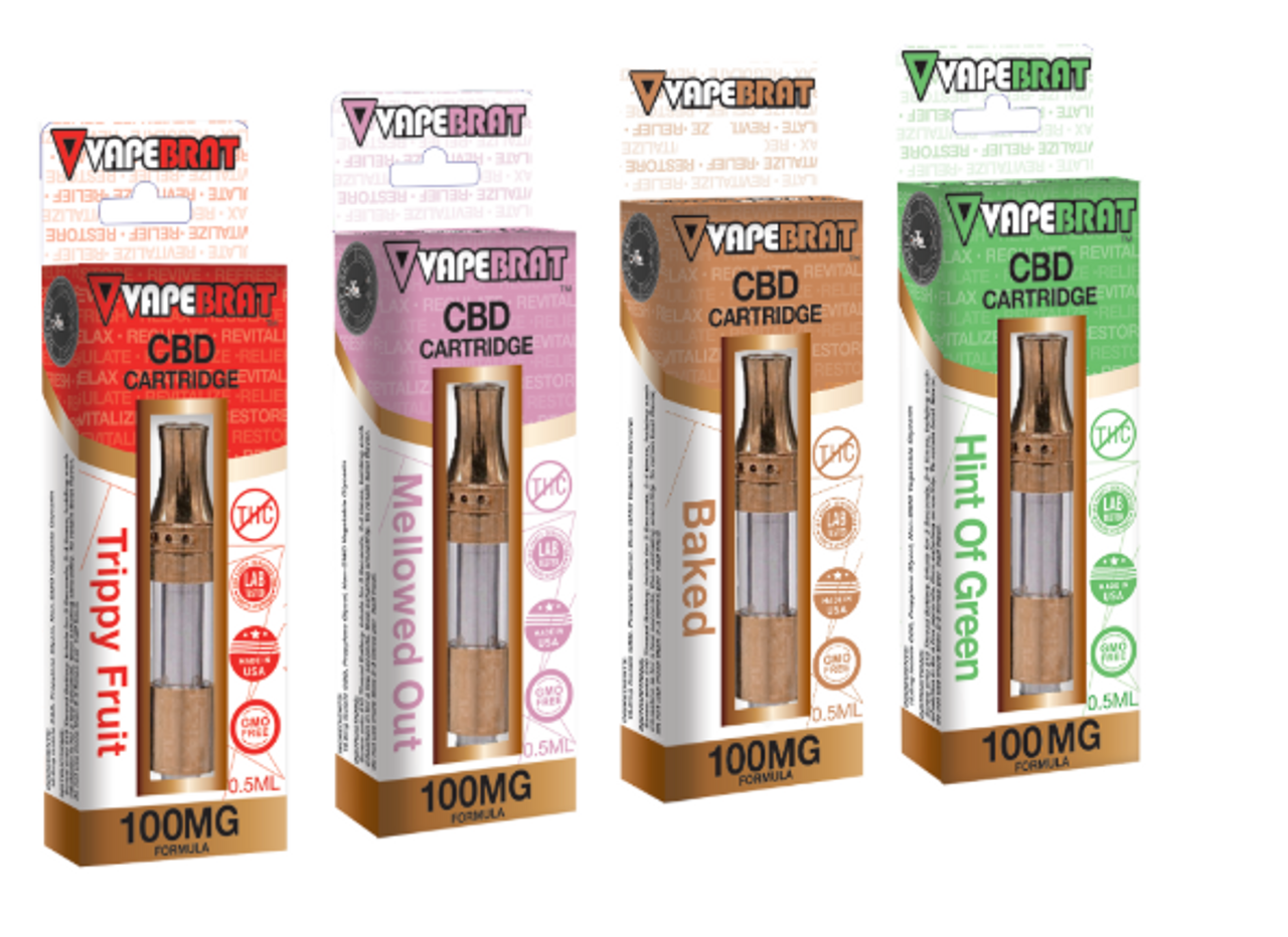 VapeBrat .5ml 100MG Pre-filled Cartridge 4 Pack