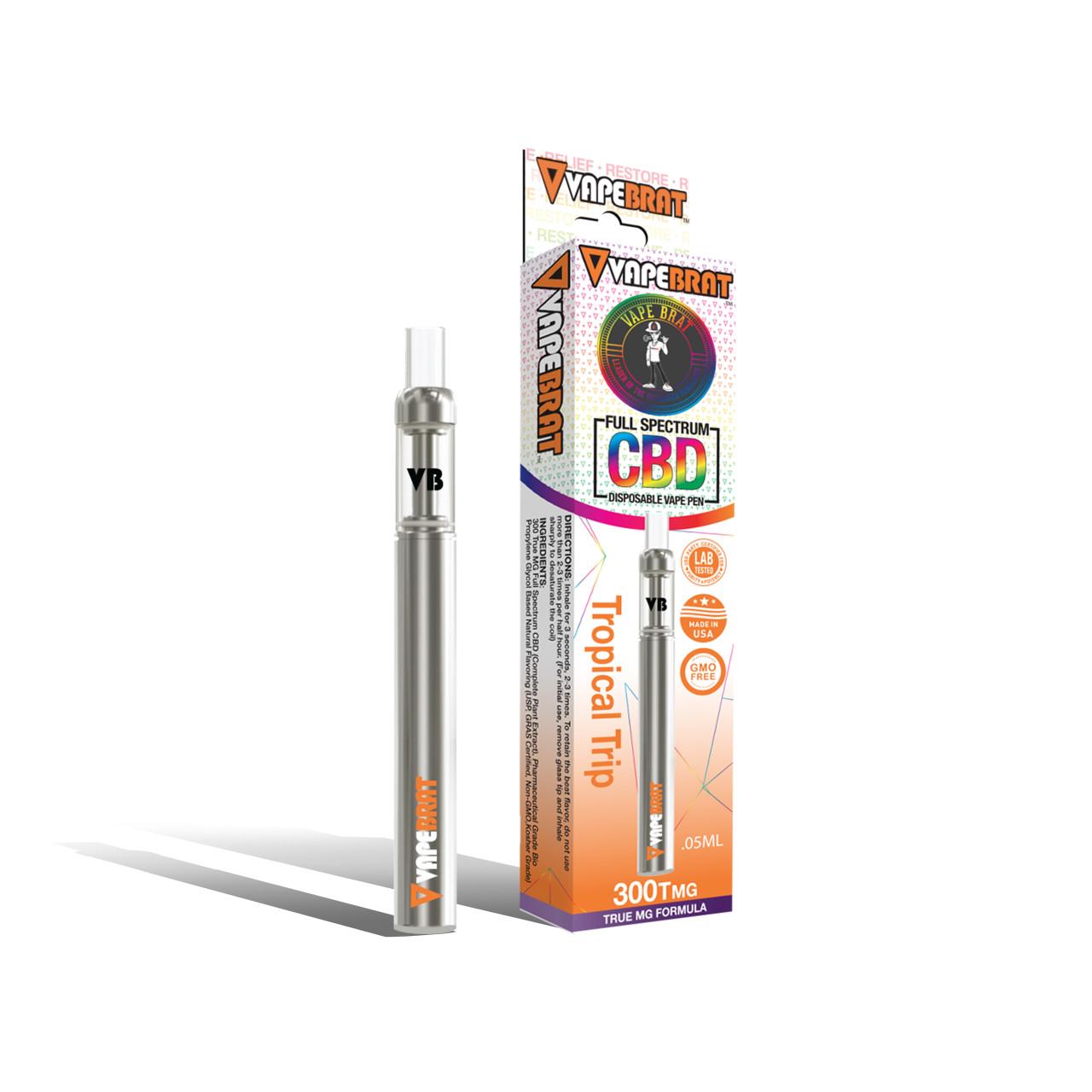 VapeBrat Full Spectrum CBD Disposable Vape Pen: 300Tmg CBD