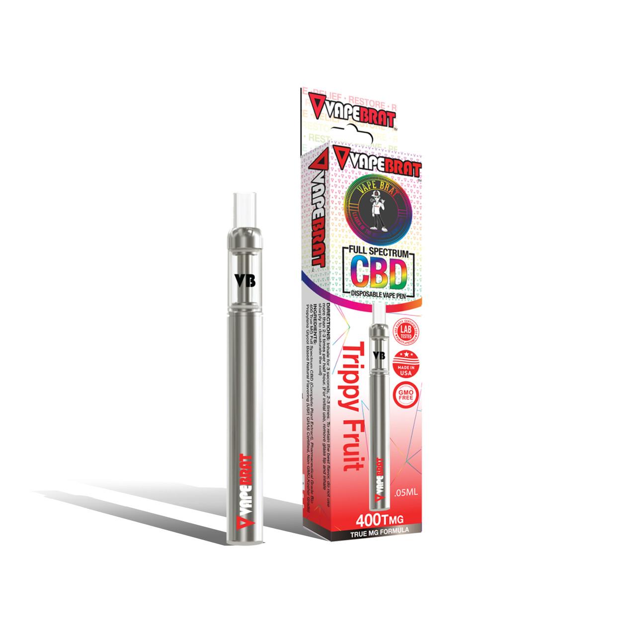 VapeBrat Full Spectrum CBD Disposable Vape Pen: 400Tmg CBD