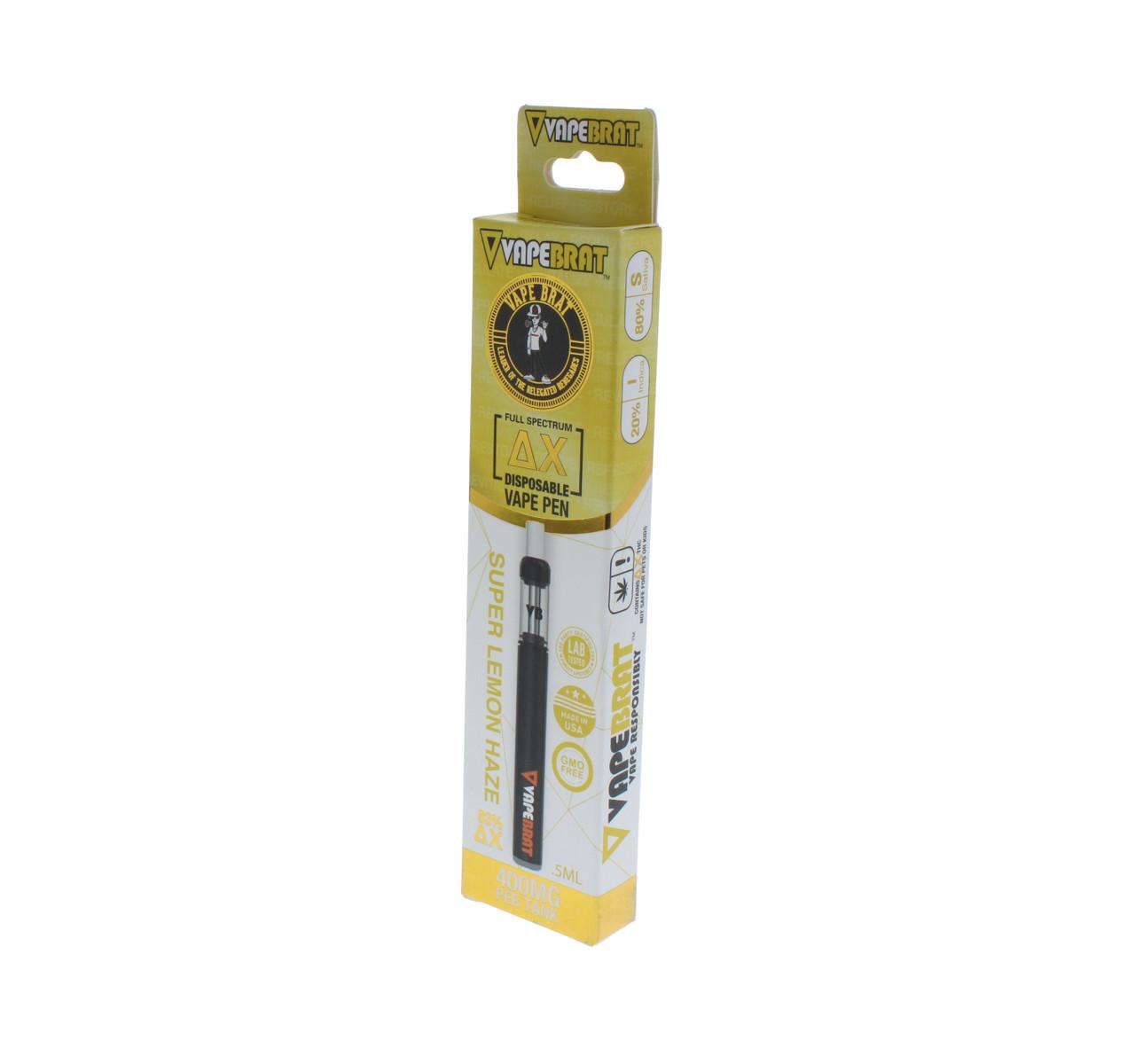 VapeBrat Disposable Delta X Vape Pen: Super Lemon Haze 400mg