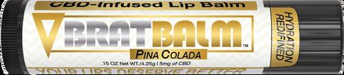 BratBalm : Pina Colada Flavor : CBD Infused Lip Balm