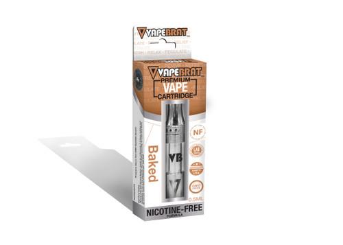 VapeBrat Disposable Nicotine Free Cartridge: Baked
