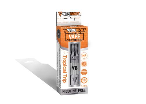 VapeBrat Disposable Nicotine Free Cartridge: Tropical Trip