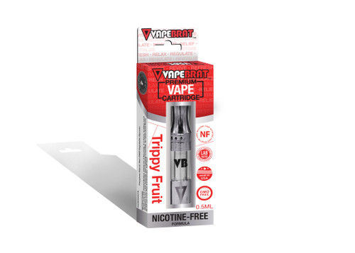 VapeBrat Disposable Nicotine Free Cartridge: Trippy Fruit