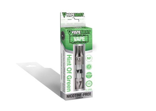 VapeBrat Disposable Nicotine Free Cartridge: Hint of Green