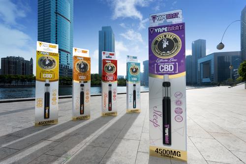 VapeBrat Effects Line Disposable CBD Vape Pen : Sample 5 Pack: 4500mg Formula
