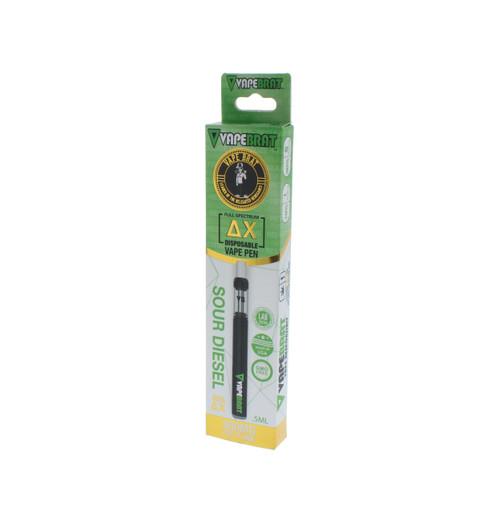 VapeBrat Disposable Delta X Vape Pen: Sour Diesel 400mg