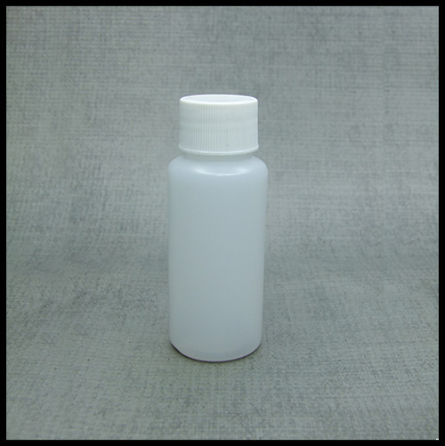 HDPE 50ml Hard Plastic Screw Top Bottle