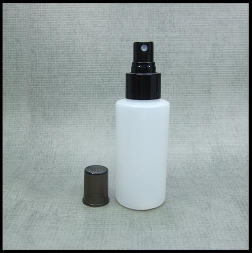 #Empty 100ml Spray Bottle HDPE Black Spray