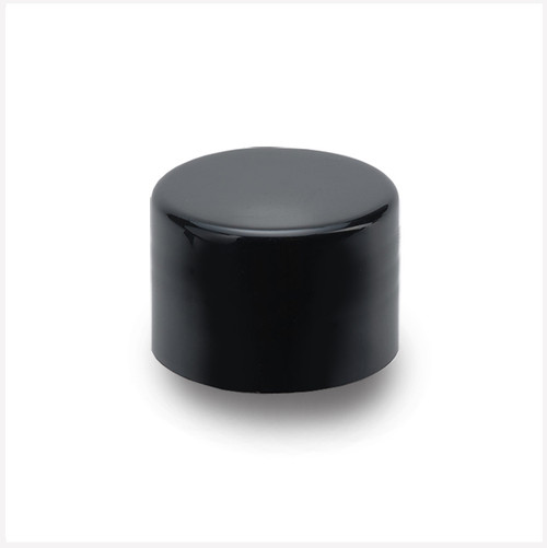 Smooth Wall Black Cap 28/410