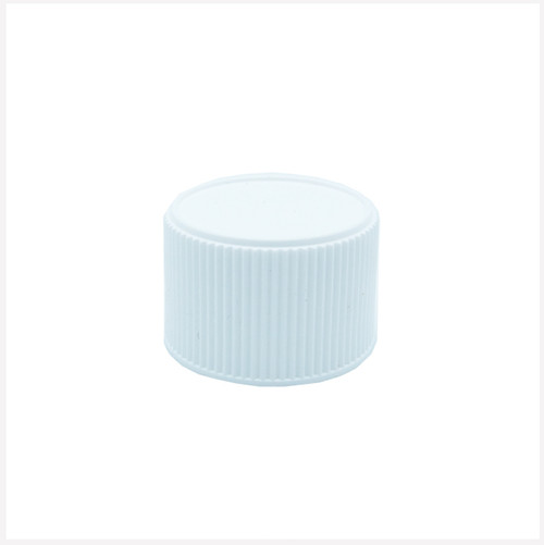White screw top lid ribbed 24/410