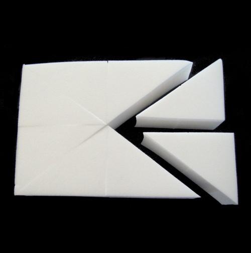 Non Latex Sponge Wedges - 8 Wedges p/Block - x1 Block, x6 Blocks, x12 Blocks & x24 Blocks