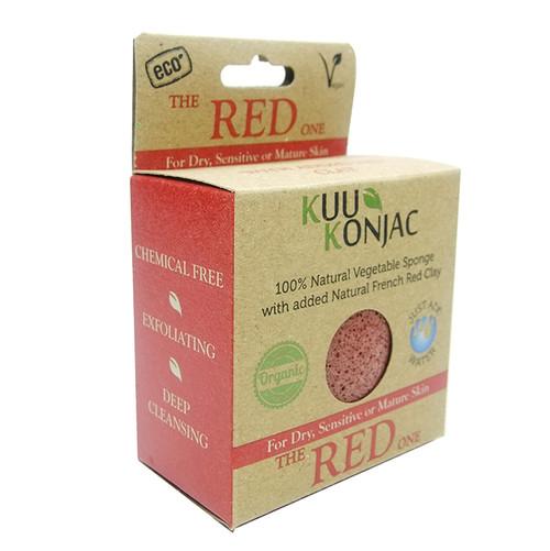 KUU Konjac Sponge with French Red Clay