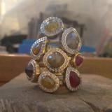 Timeless Fancy Rose-cut Diamond Rings