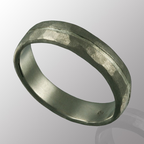 Palladium and silver ring.  6mm wide.