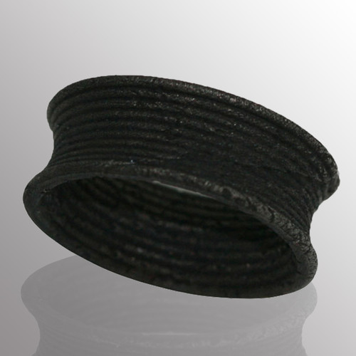 Blackened silver ring.  7.8mm wide.