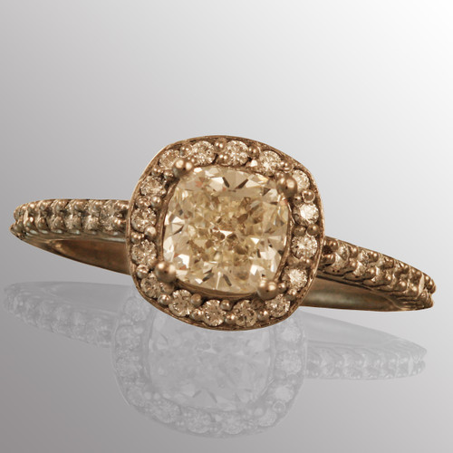 Platinum engagement ring with 1ct. center diamond and 1/3ct. all side diamonds (G/VS2 with certificate).