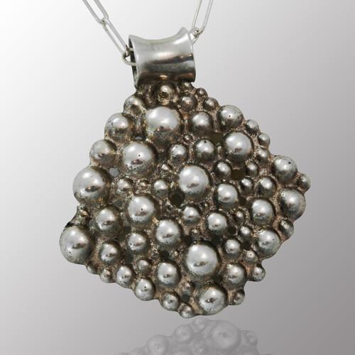 Sterling silver bubble pendant.  25mm wide.