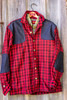 Grand Uplander Wool JacShirt - Red & Black Check