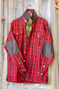 GUNNISON- W 5  WOODLAND WOOLENS RED/BLACK CHECK