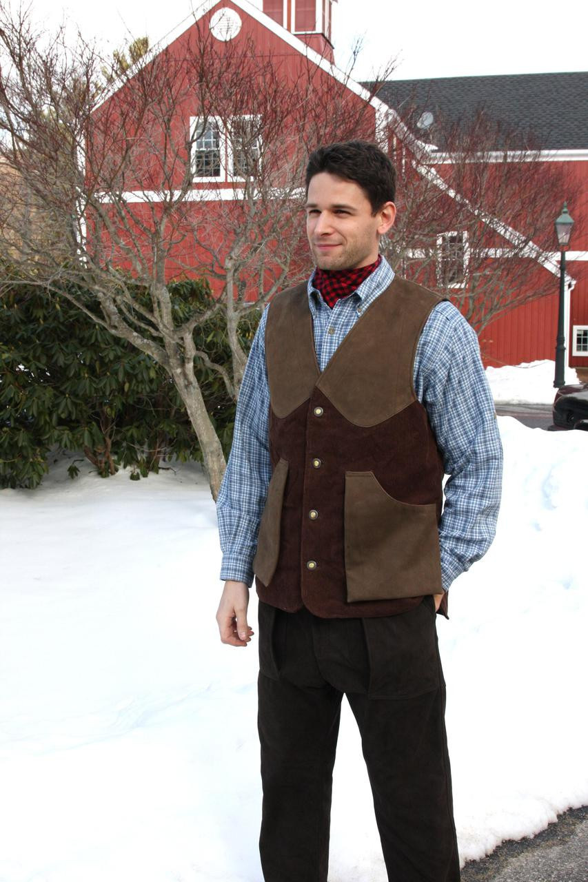 Artemis Vest - Brown Cordouroy - 25% OFF