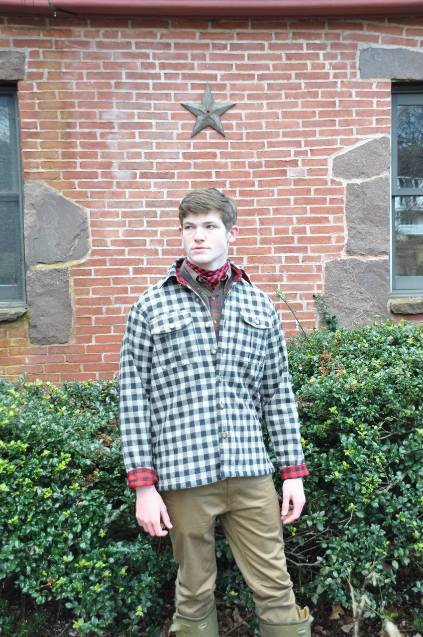 Gunnison  Wool JacShirt - Tan & Brown Check