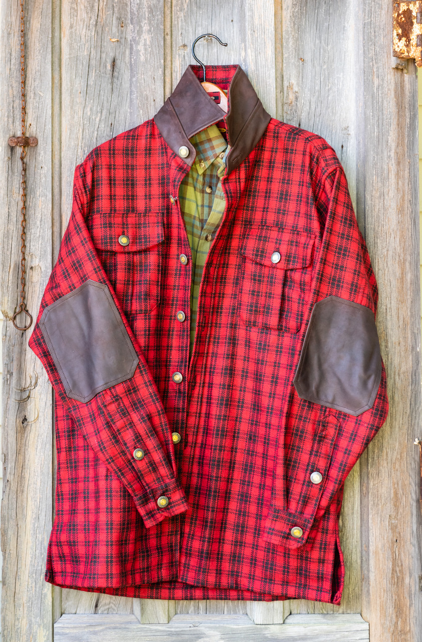 Gunnison Wool JacShirt - Red & Black Check