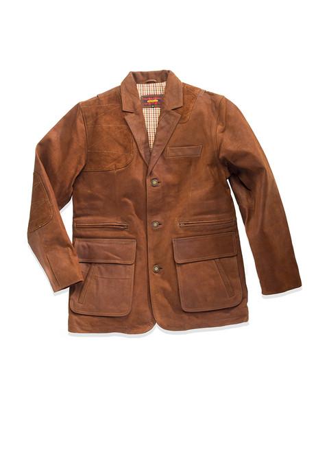 Estate Artemis Waxed Buffalo Sports Jacket - Chestnut