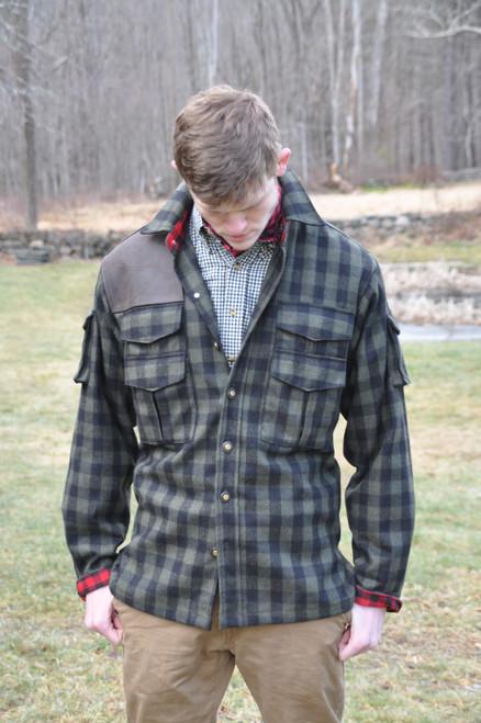 Ghillies Jacket - Wool - Green & Black Rob Roy Hunting Tartan