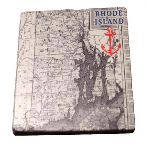 Rhode Island Map in Grey