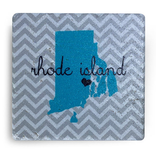 Rhode Island  Map with a Heart