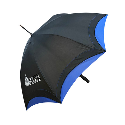 Black and Blue Rhode Island State House Umbrella