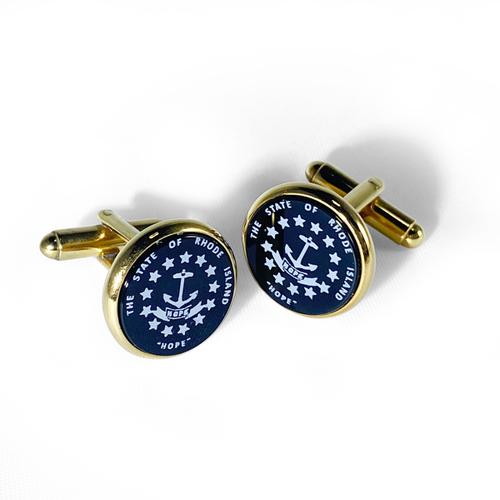 Cufflinks in Blue Onyx