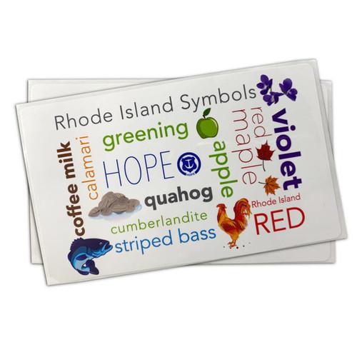 Rhode Island  Symbols Sticker