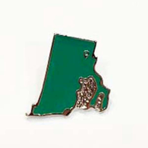Rhode Island Map in Green