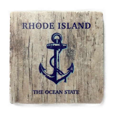 Rhode Island Anchor on Driftwood