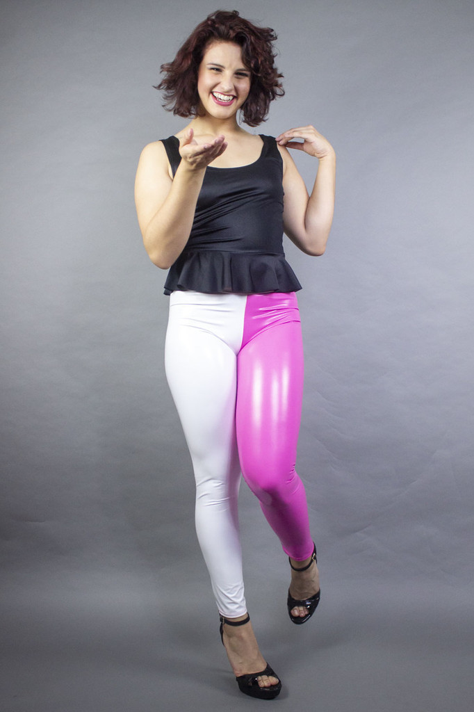 Two Color Tight Ankle Leggings