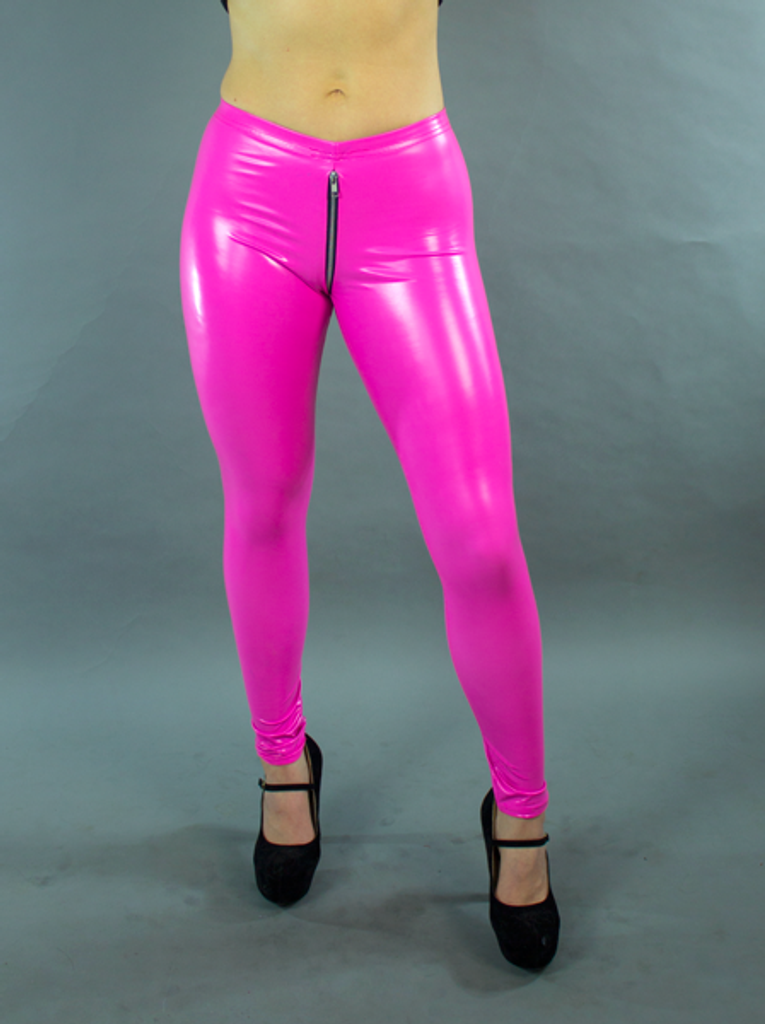 2 Way Crotch Zipper Tight Ankle Leggings