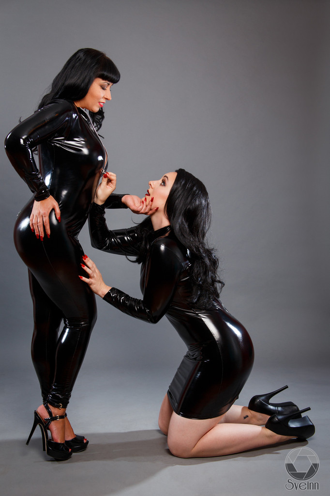 latex catsuit and PVC bodysuit alternative. BDSM custom clothing manufacturer specializing in spandex vinyl.
