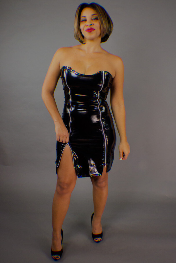 3 Zipper Separating Mini Dress