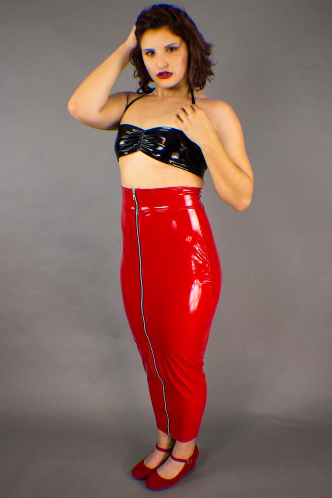Hobble Skirt With Zipper