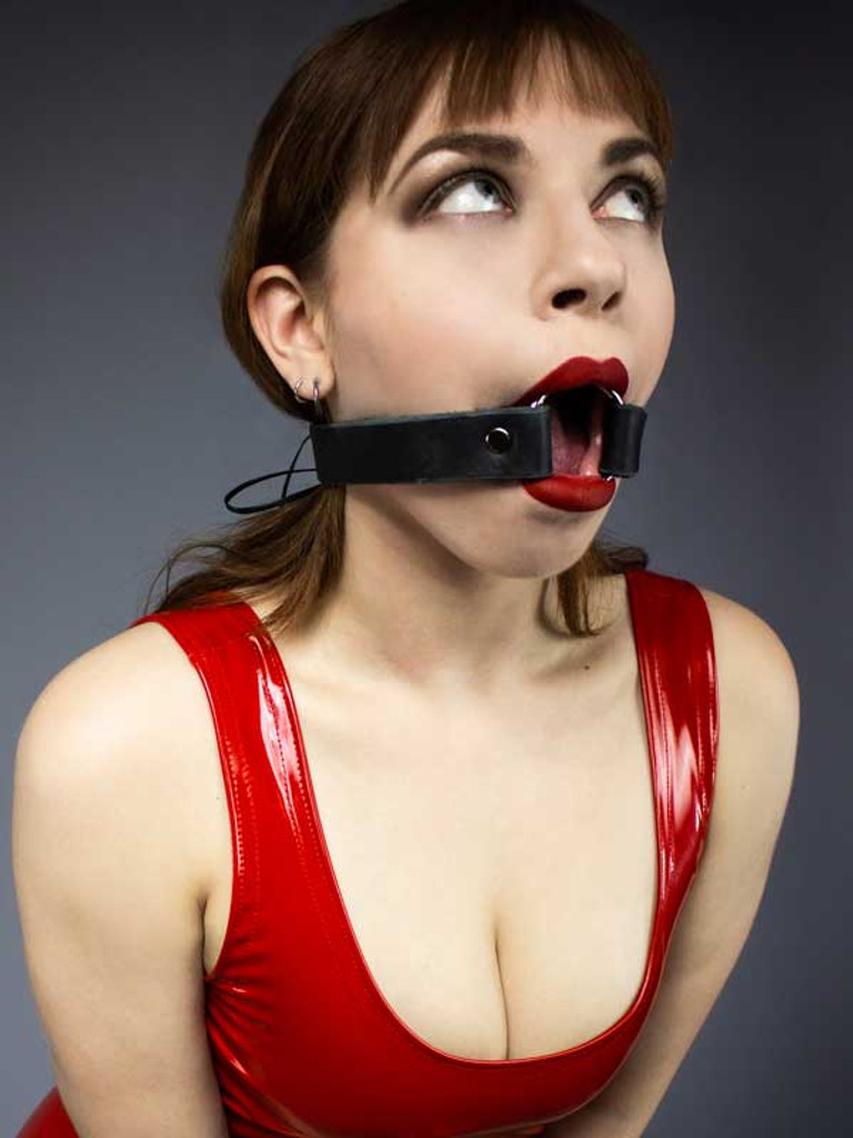 Steel and Leather O-Ring Gag