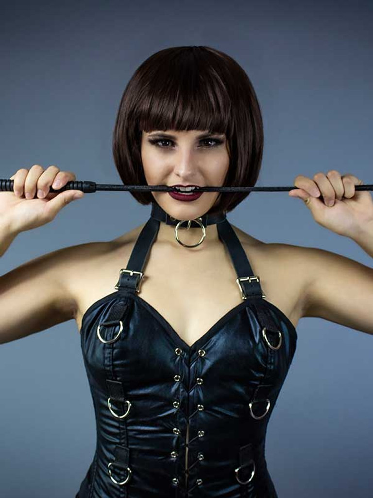 Full Corset with D-Rings and Collar