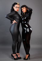 Custom Spandex Vinyl Bodysuit full body 2 way crotch zipper